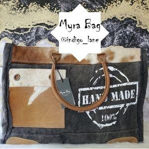 "Myra ""100% Handmade"" Leather & Canvas Weekender"